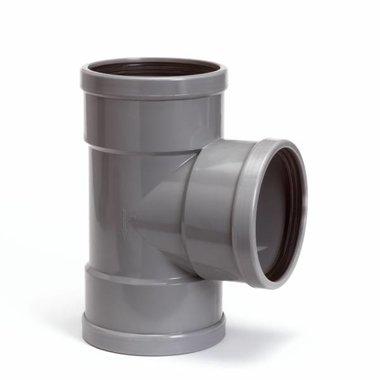 T-stuk 125mm 90gr. 3xmanchet SN4