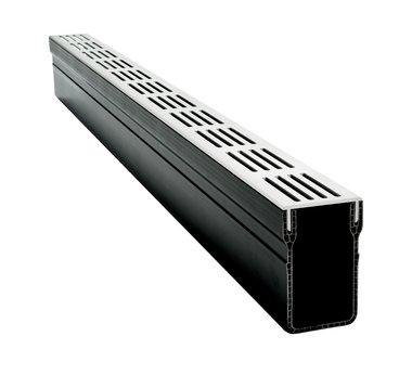 Stardrain lijngoot 65x100mm grijs