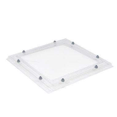 Lichtkoepel 100x100cm ac enkelwandig helder