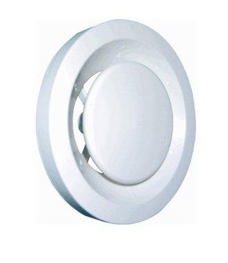 Afzuigventiel 100-125mm kunststof wit